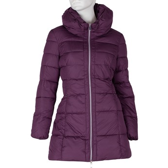 Długa fioletowa pikowana kurtka damska bata, fioletowy, 979-0348 - 13