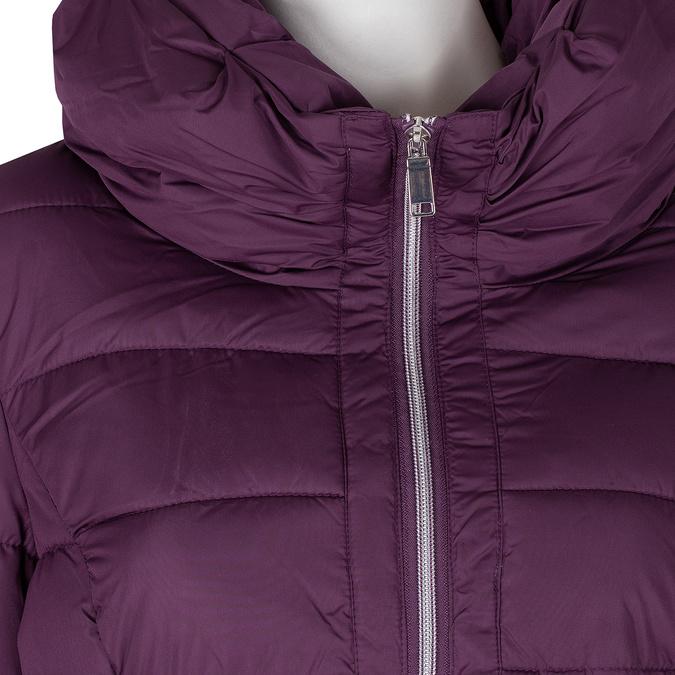 Długa fioletowa pikowana kurtka damska bata, fioletowy, 979-0348 - 16