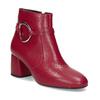 Czerwone skórzane botki zklamrami bata, czerwony, 794-5608 - 13