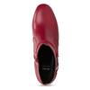 Czerwone skórzane botki zklamrami bata, czerwony, 794-5608 - 17