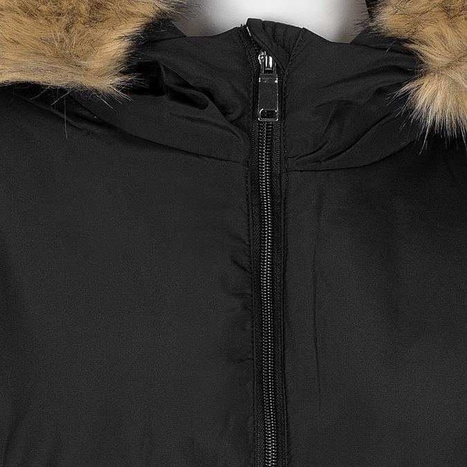 Długa kurtka damska zkapturem ifuterkiem bata, czarny, 979-6355 - 16