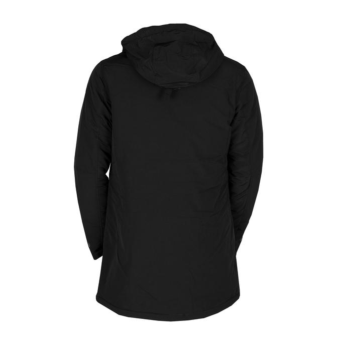 Długa czarna kurtka męska zkapturem bata, czarny, 979-6366 - 26