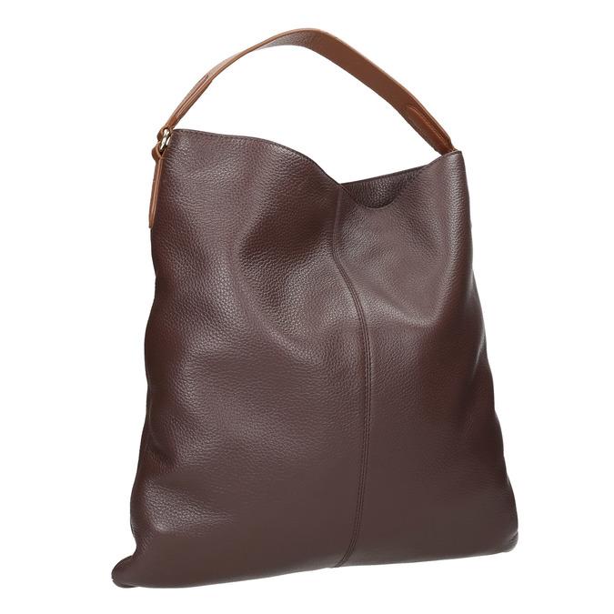 Skórzana torba damska wstylu hobo bata, brązowy, 964-4236 - 13