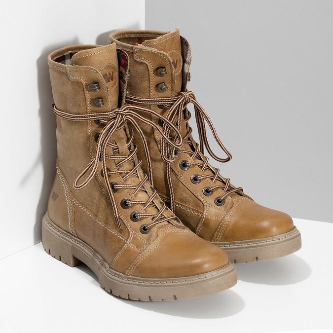 Jasnobrązowe skórzane obuwie damskie weinbrenner, brązowy, 596-3758 - 26