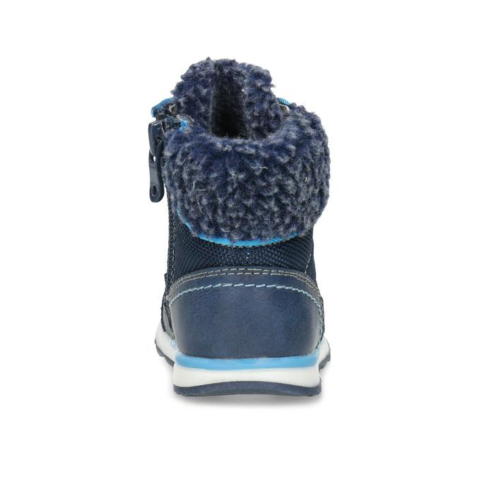 Granatowe zimowe obuwie dziecięce zociepliną, niebieski, 191-9616 - 15