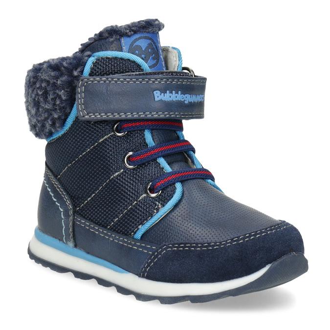 Granatowe zimowe obuwie dziecięce zociepliną, niebieski, 191-9616 - 13