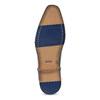 Ciemnobrązowe skórzane półbuty męskie bata, brązowy, 826-4615 - 18