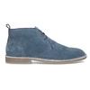 Granatowe skórzane desert boots męskie bata, niebieski, 823-9655 - 19