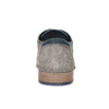 Szare skórzane półbuty ze zdobieniami brogue bata, szary, 823-2654 - 15