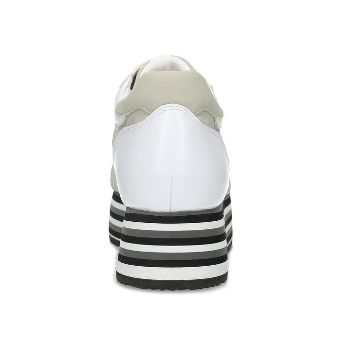 Szare trampki damskie na platformach bata, beżowy, 549-0605 - 15