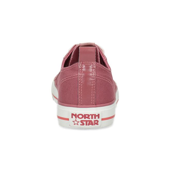 Różowe płócienne trampki damskie north-star, różowy, 589-5501 - 15
