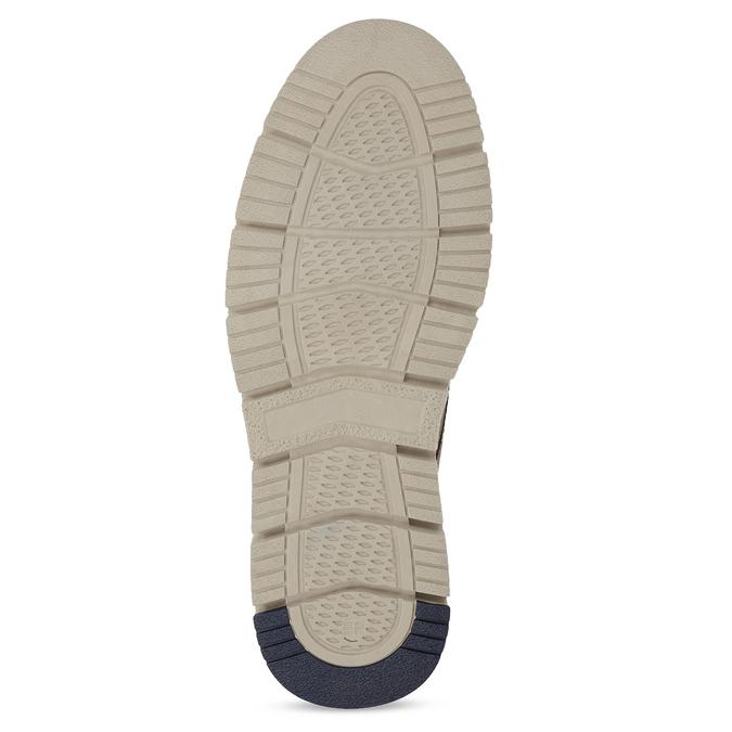 Skórzane buty za kostkę na kontrastowej podeszwie weinbrenner, brązowy, 846-4658 - 18