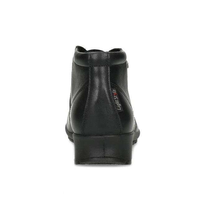 Skórzane botki damskie comfit, czarny, 594-6707 - 15